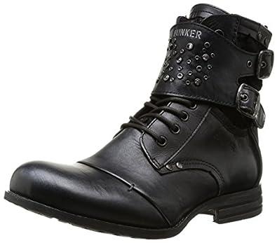 Bunker Zeus, Boots femme - Noir (L Black), 38 EU