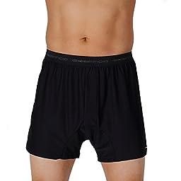 Exofficio Men\'s Give-N-Go Boxers, Black, Small