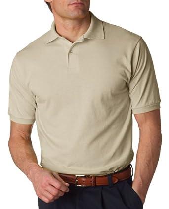 Jerzees 437 5.6 oz. 50/50 Jersey Polo with SpotShield - Sandstone - Small