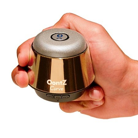 The Oontz Curve - Ultra Portable, Wireless, Bluetooth Speaker - Better Sound, Better Volume, Better Quallity And Incredible Online Price - The Perfect Speaker To Take Everywhere With You This Summer ((Gold))