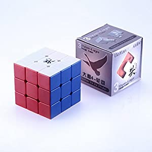 JohnsDollarStore Lingyun V2 3x3 Speed Cube 6-Color Stickerless White