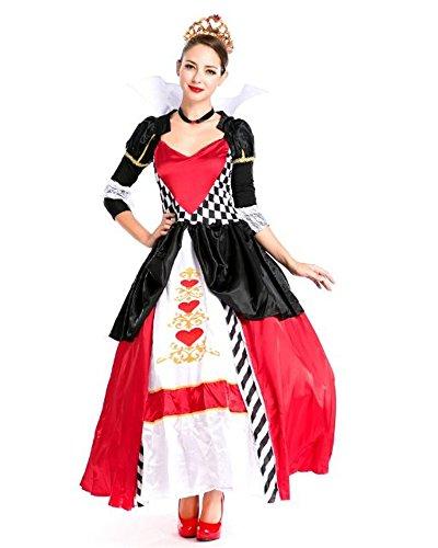 monoii ハートの女王 コスプレ 衣装 アリス 女王 コスチューム ドレス 411