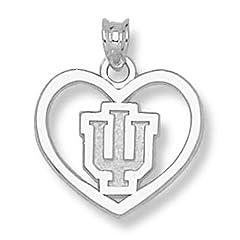 Indiana University IU Heart - 14K Gold by Logo Art