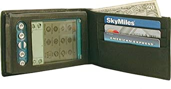 Black Designer Flip Top Drum Dyed Leather PDA Case