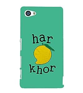Haram Khor 3D Hard Polycarbonate Designer Back Case Cover for Sony Xperia Z5 Compact :: Sony Xperia Z5 Mini