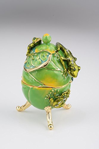 Green-Frogs-Faberge-Easter-Egg-with-frog-pedant-inside