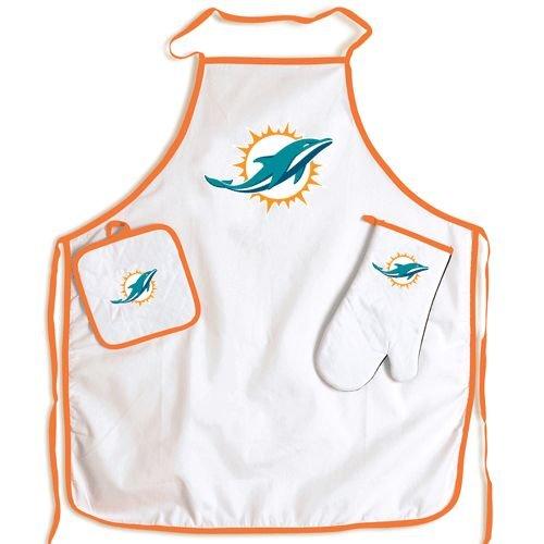 Miami Dolphins Grilling Apron Set