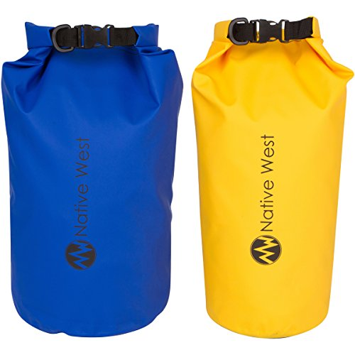 Dry-Bag-2-Pack-With-Shoulder-Strap-Waterproof-Floating-Dry-Gear-Bags-for-Boating-Kayaking-Fishing-Rafting-Swimming-Camping-Hiking-Rafting-SUP-and-Snowboarding-Dry-Compression-Sack-with-High-Quality-Ro