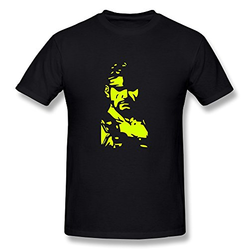 Men'S New Design Black T Shirt Funny Mgs Solid Snake Xl