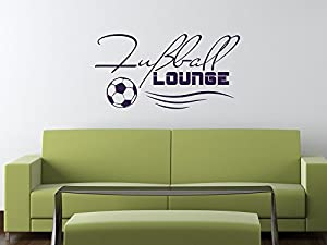 wandtattoo deko f r jugendzimmer wand aufkleber sticker sport fitness fu ball lounge mit ball. Black Bedroom Furniture Sets. Home Design Ideas