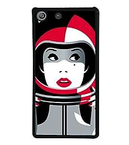 PrintVisa SONM5-Astronaut Space Girl Art Metal Back Cover for Sony Xperia M5 Dual E5633 E5643 E5663, Sony Xperia M5 E5603 E5606 E5653