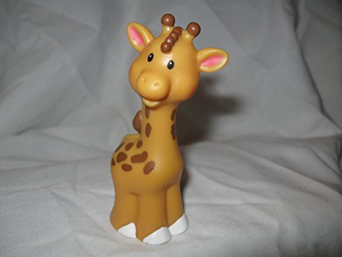 Fisher Price Little People Noah's Ark Zoo Animal Replacement FEMALE Giraffe Dark Brown 2007 OOP - 1