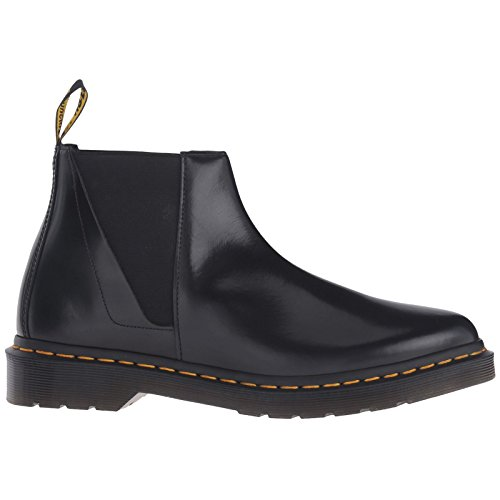 Dr.Martens Womens Bianca Smooth Chelsea Black Leather Boots 41 EU
