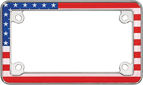 Cruiser Accessories 77203 Chrome MC USA Flag License Plate Frame (Motorcycle Cruiser Accessories compare prices)