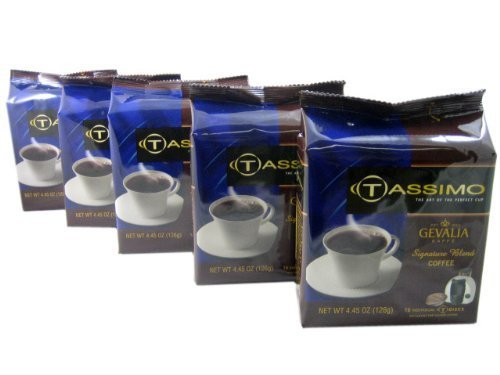 Tassimo T-Disk: Gevalia Signature Blend Coffee T-Disc Pods(Pack of 5) by Tassimo (Tassimo Disk compare prices)