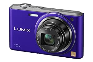 Panasonic Lumix DMC-SZ3EB-V Compact Camera - Violet (16.1MP, 10x Optical Zoom with Leica DC Lens, 25mm Wide Angle Lens, HD Video Recording) 2.7 inch LCD (discontinued by manufacturer)