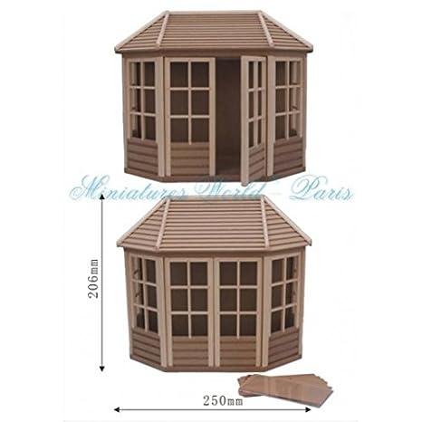 Miniature Maisons de poupées - Abri en bois brut