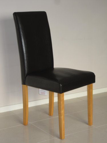 2 x Milan Faux Leather Dining chairs -