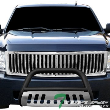Topline Autopart Matte Black Bull Bar Bumper Grill Grille Guard Ss Skid 07-13 Silverado/Sierra 1500 (Bull Bar For Sierra compare prices)