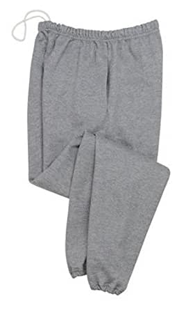 Jerzees SUPER SWEATS - Sweatpant with Pockets, Small, Birch (light grey)