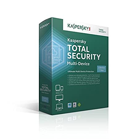 Kaspersky Total Security Multi Device - 3 Device - 1 Year (PC/Mac/Android)