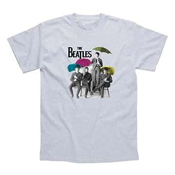 The Beatles Umbrella T Shirt (Grey) - Small