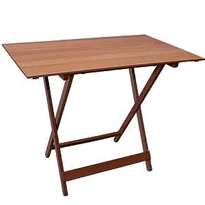 Tavolo pieghevole rodi in legno massello colore noce serie for Tavolo in legno pieghevole
