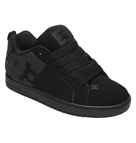 Dc Men'S Court Graffik Sneaker,Black/Black/Black,11 M Us front-952128