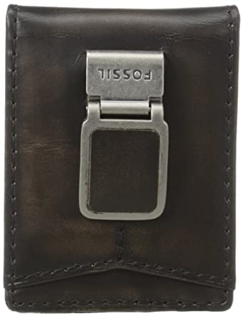 Fossil Men's Carson Id Bifold Wallet, Black, One Size