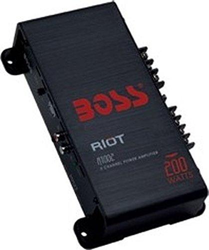 BOSS AUDIO R1002 Riot 200-Watt Full Range, Class A/B 2-8 Ohm Stable 2 Channel Amplifier