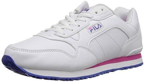 Fila Women's Cress Running Shoe, White/Royal Blue/Pink Glo, 7.5 M US