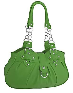 EyeCatchBags - Huron Damen Schultertasche / Handtasche aus Kunstleder Apple Green