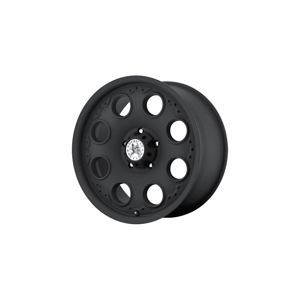 American Outlaw Patrol Matte Black Wheel with Painted Finish (17x8.5/5x127mm)
