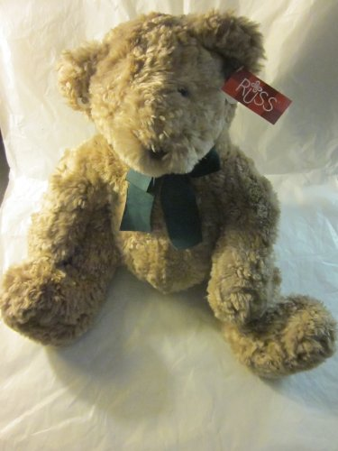 "Russ ""DEXTER"" 14"" Light Brown Sitting Teddy Bear Plush - 1"