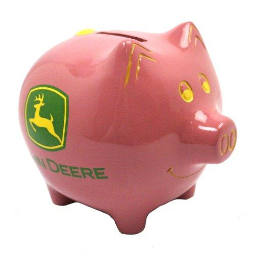 John Deere Pink Piggy Bank - 1
