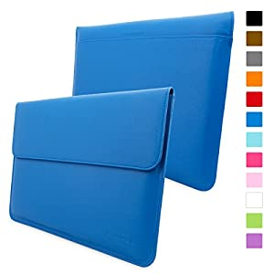 Snugg™ Macbook Pro 15 Case - Leather Sleeve with Lifetime Guarantee (Electric Blue) for Apple Macbook Pro 15