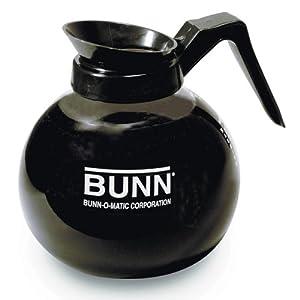 Bunn BUNN 42400 12-Cup Glass Decanter - Black by Englewood Marketing Group Inc