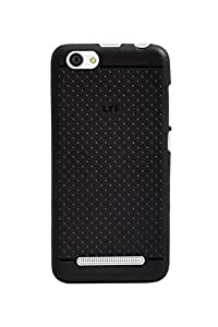 Hello Zone Exclusive Dotted Design Soft Back Case Cover Back Cover For Reliance Jio LYF Flame 1-Black