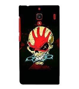 printtech Skull Knuckle Print Back Case Cover for Xiaomi Redmi 1S::Xiaomi Redmi (1st Gen)