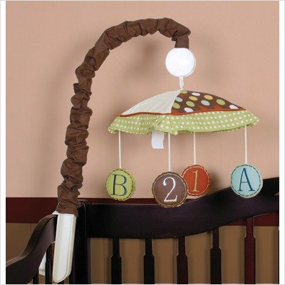 Geenny Musical Mobile For Boutique Animal Scholar 13 Pcs Crib Bedding Set
