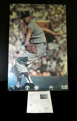 Don Drysdale Signed Sports Illustrated Poster Auto - JSA Certified - Autographed MLB Magazines