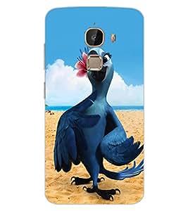 ColourCraft Cute Parrot Design Back Case Cover for LeEco Le 2 Pro
