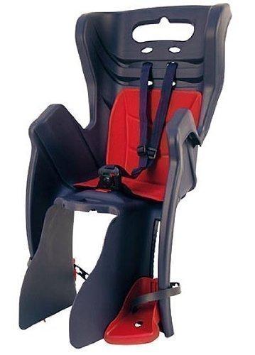 Fahrrad-Kindersitz LITTLE DUCK CLAMP für Gepäckträgermontage dunkelblau/rot