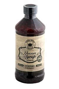 Royal Dark 100% Pure Yacon Syrup - 8 fl oz | Ultra Premium Natural Yacon Syrup - Healthy & Delicious Tasting Sugar Alternative with Natural Prebiotic FOS Fiber | Low Calorie Low-Glycemic with No Additives or Preservatives