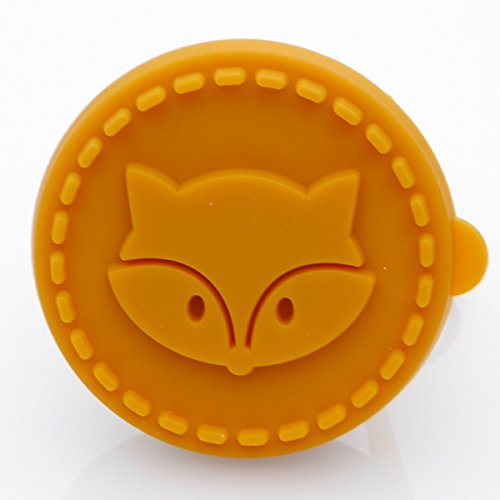 Fox Cookie Stamp - Wooden Handle with Silicone
