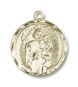 14kt Gold St. Joseph Medal