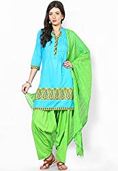 Soundarya Ethnicwear Cotton Free Size Patiala Salwar with Dupatta for Women (PAT3)