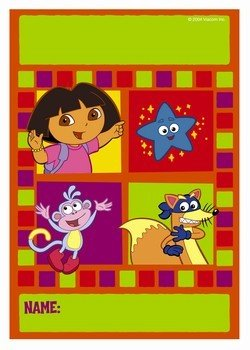 Dora the Explorer Party Treat Goodie Bag Loot Bag ~ 8 pc Set