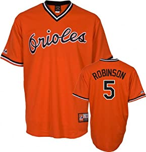 MLB Brooks Robinson Baltimore Orioles #5 Throwback Cooperstown Collection Jersey -... by Majestic