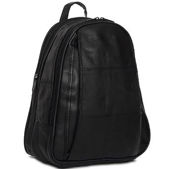 caspar damen city rucksack aus leder schwarz bekleidung. Black Bedroom Furniture Sets. Home Design Ideas